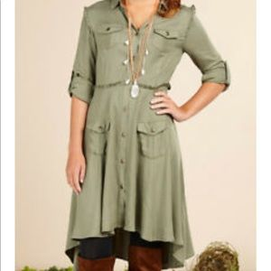 Matilda Jane Green button down dress extra small